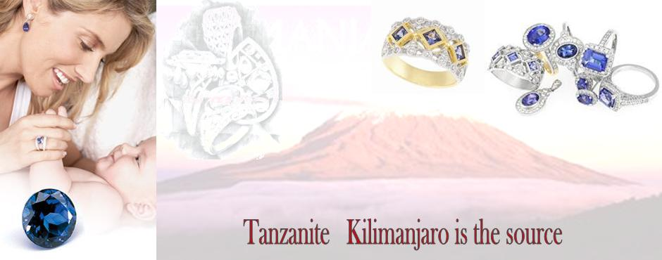 tanzanite rings with kilimanjaro