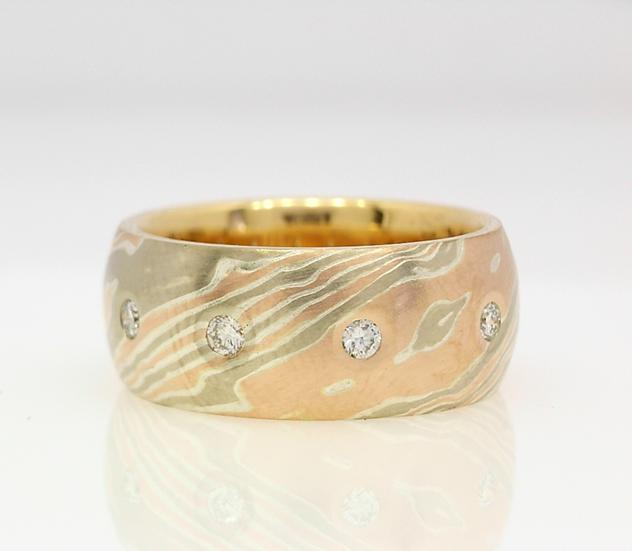 mokume diamond set