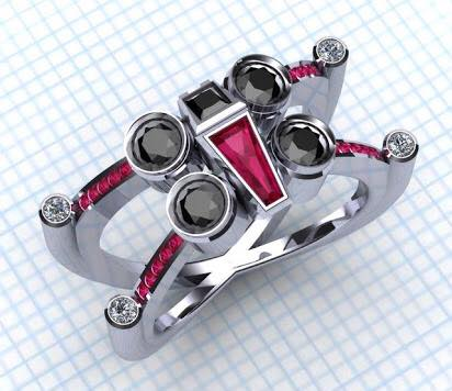 star wars x wing fighter ring