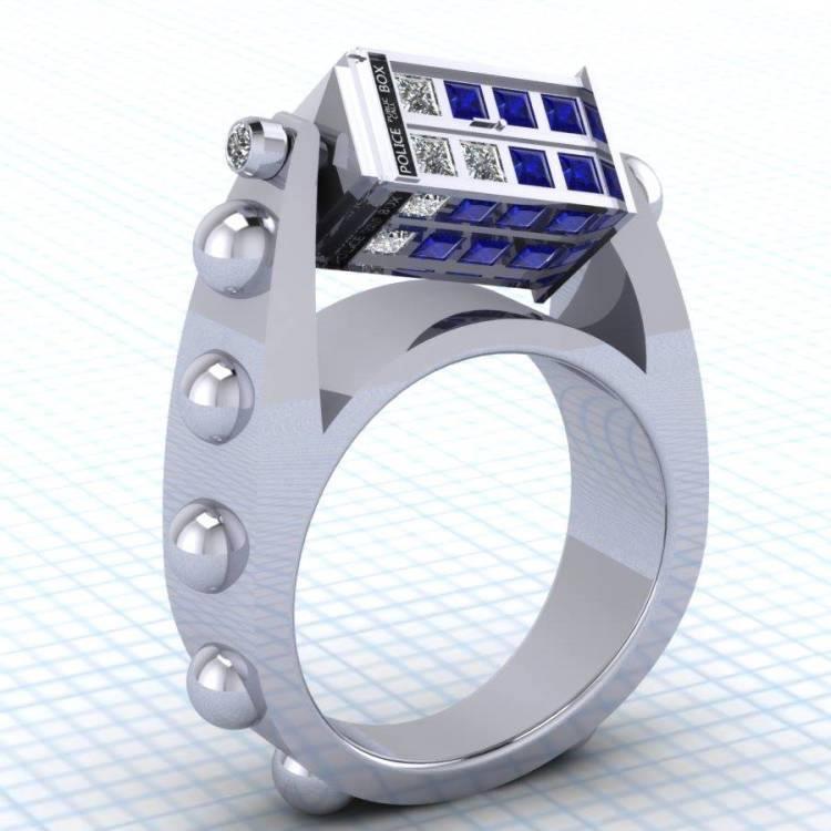doctor who tardis ring