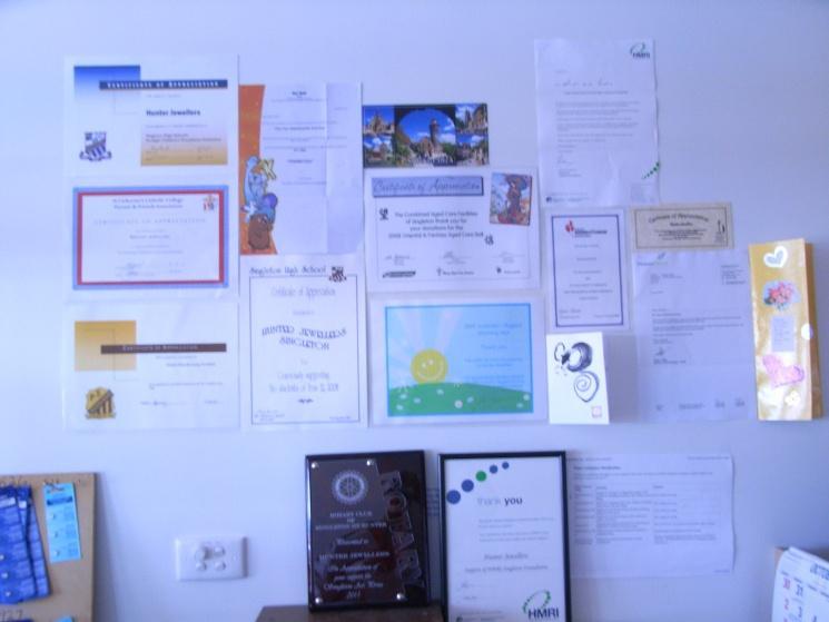 community certificates