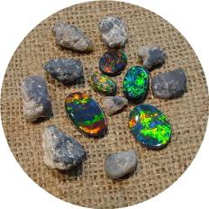loose opals polished & rough