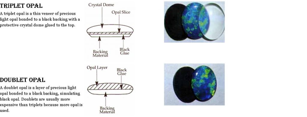 triplet & doublet opal