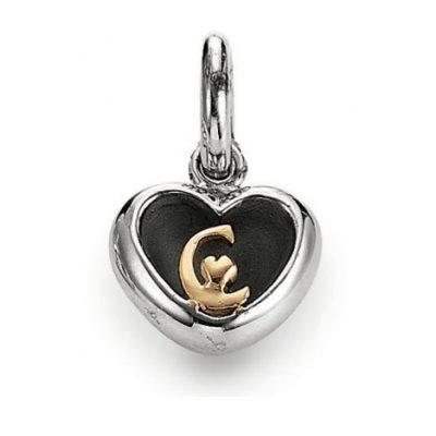 C Heart Charm