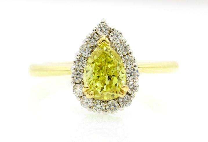 R10970 Yellow Pear Diamond
