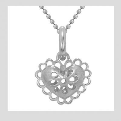 Filigree Heart Charm