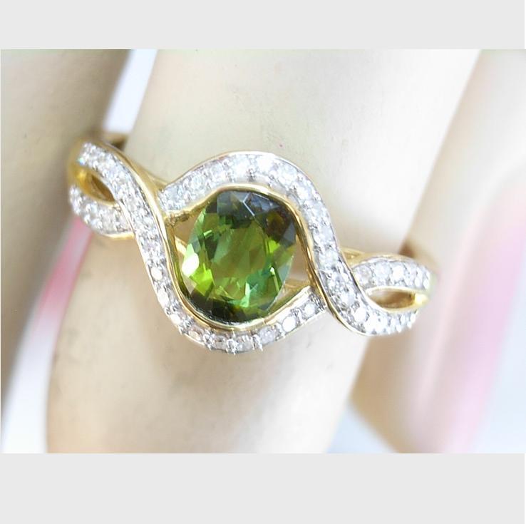 G26200 Green Tourmaline Ring