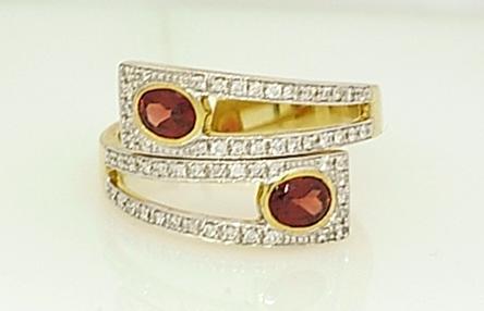 garnet bypass ring