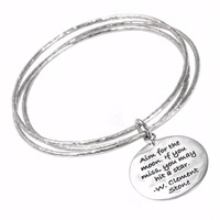 Poetic Pieces Charm Tri Bangle