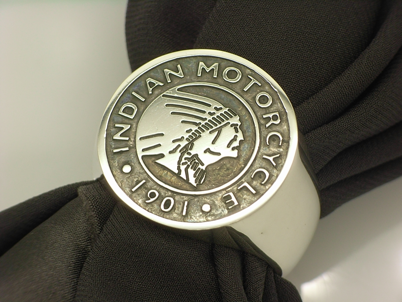 Indiam motorcycle engraved custom ring