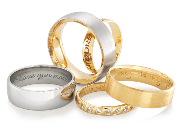 engraving of express yourself rings