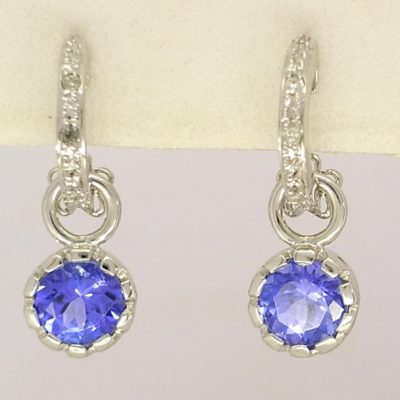 Diamond Tanzanite Earrings