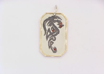 custom tribal dragon pendant