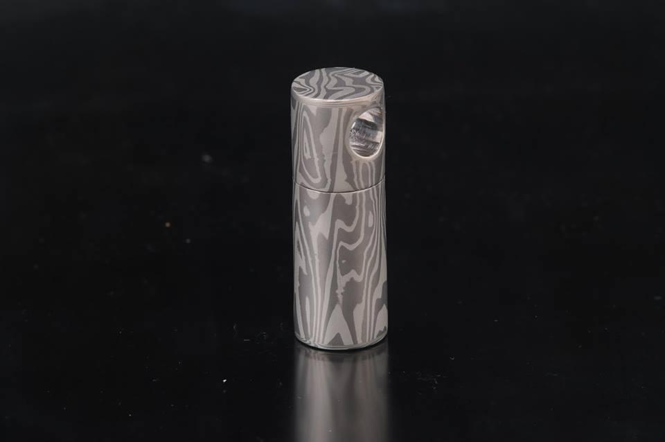 storage cylinder mokume gane