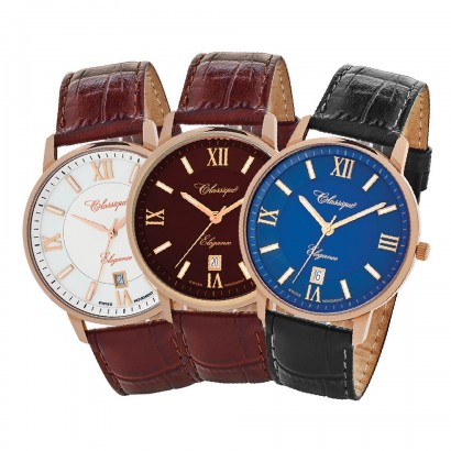 dress watches rose gold colour