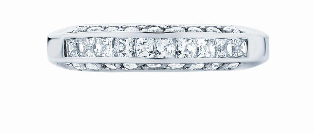 channel set princess round diamonds