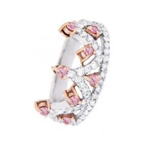 pink diamond crown band