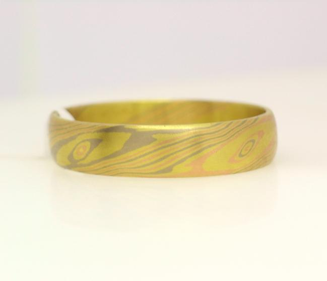 3 tone yellow gray rose mokume