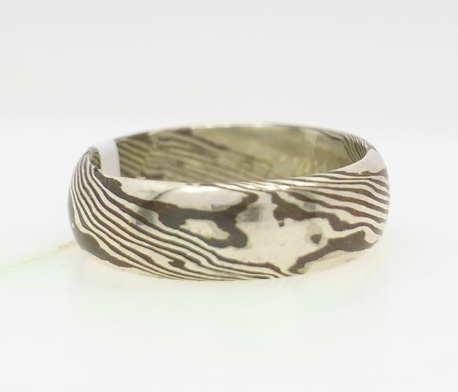 silver copper mokume