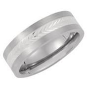 Titanium and Silver Ring
