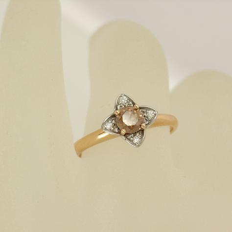 R11287 Chocolate Diamond Ring