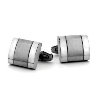 G31111 - Stainless steel and black IP plated cufflinks