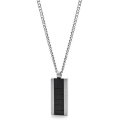 Stainless steel and black IP plated pendant