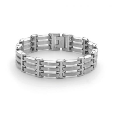 Stainless steel gate style bracelet