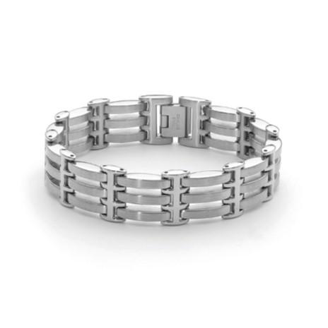 Stainless steel gate style bracelet