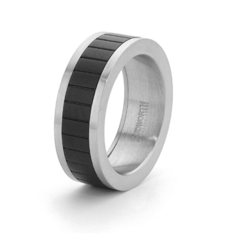 Stainless steel and black IP