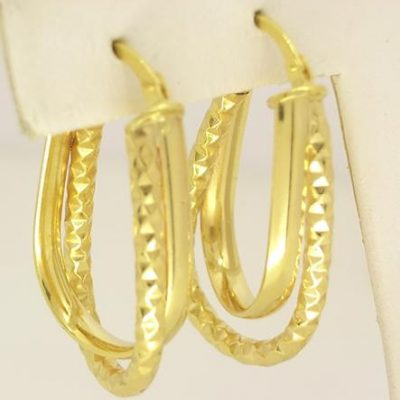 Double Hoop Cross-Over Earrings