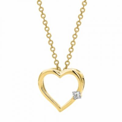 G31092 - Yellow Gold Heart Pendant