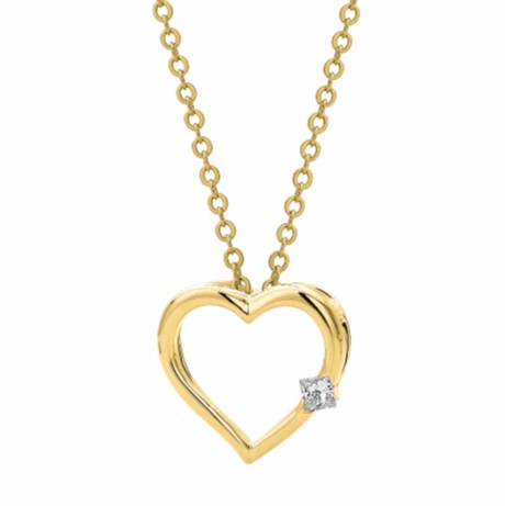 G31092 - Yellow Gold Heart Pendant