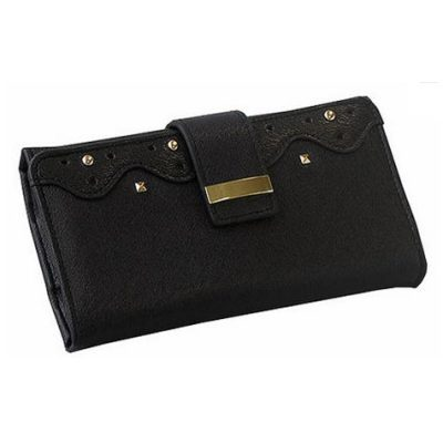 G30933 - Black stud jewellery travel wallet
