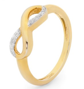 R11415 - Infinity Ring with Diamonds