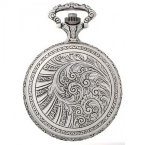 W12709 Antique Style Pewter Pocket Watch