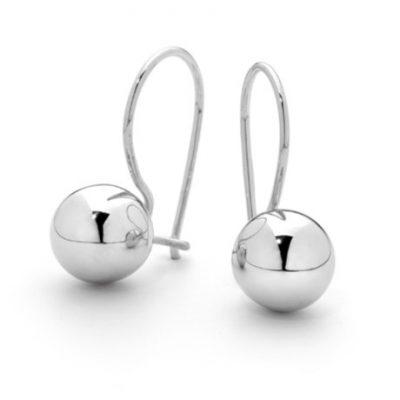 G31197 - Sterling Silver Euro Ball Drop Earrings