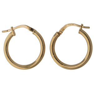 G31169 - Yellow Gold Small Hoop Earrings