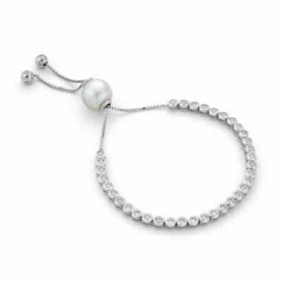 P1209 - Pearl Tennis Bracelet