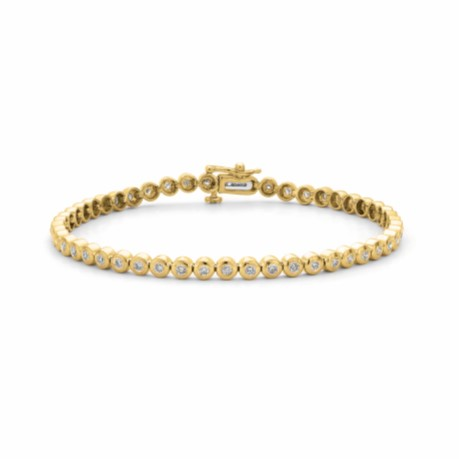 Gold and Diamond Tennis Bracelet