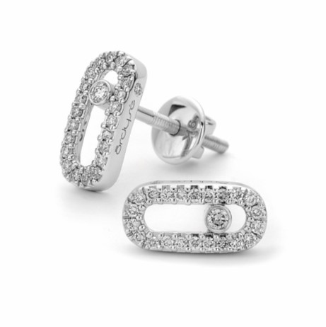 white gold micro pave set earrings