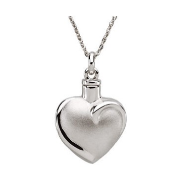 G30797 - Sterling silver heart ash pendant