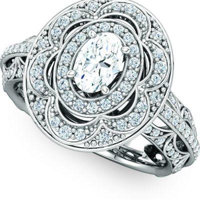 122003 Halo Engagement Ring
