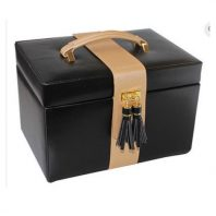 Black Jewellery Box with Gold Trim
