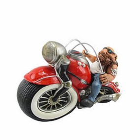 Red Harley Davidson motorcycle money box