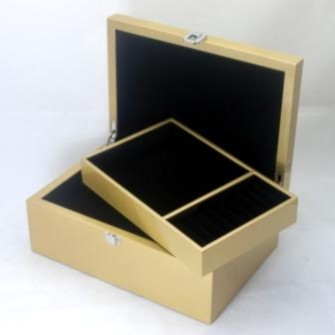 Metallic Gold Coloured Jewellery Box