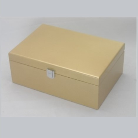 Metallic Gold Coloured Jewellery Box