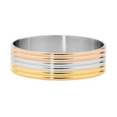 3tone six band bangle