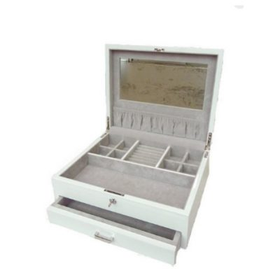 Large White Jewellery Box