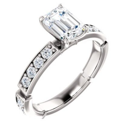 121988 Accented Engagement Ring